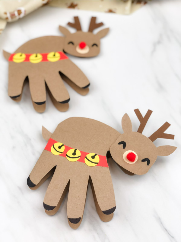 handprint reindeer card craft