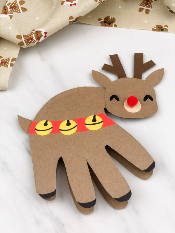 handprint reindeer card