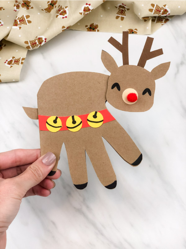 handprint reindeer christmas craft