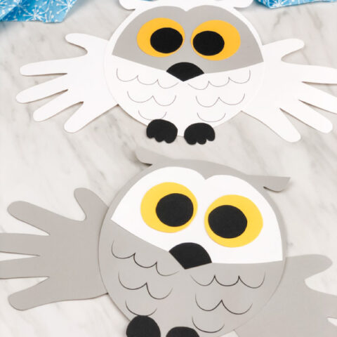 Handprint Snowy Owl Craft For Kids