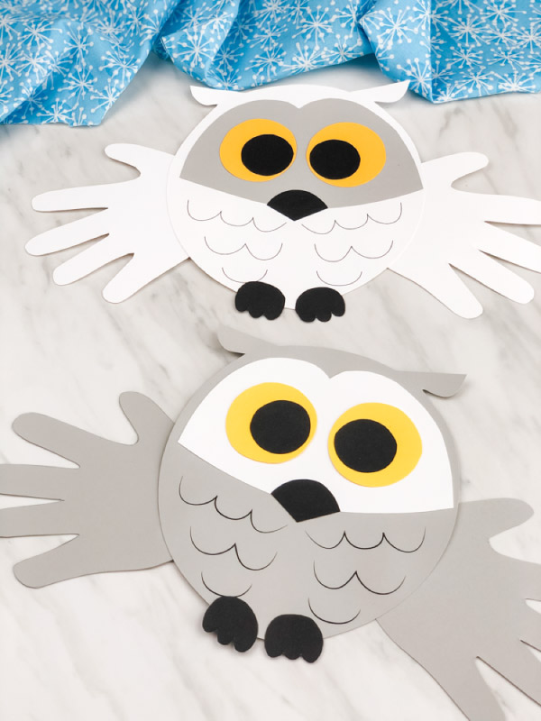 easy handprint owl craft for toddlers