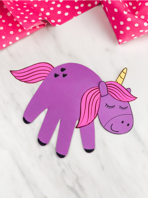 Purple handprint unicorn
