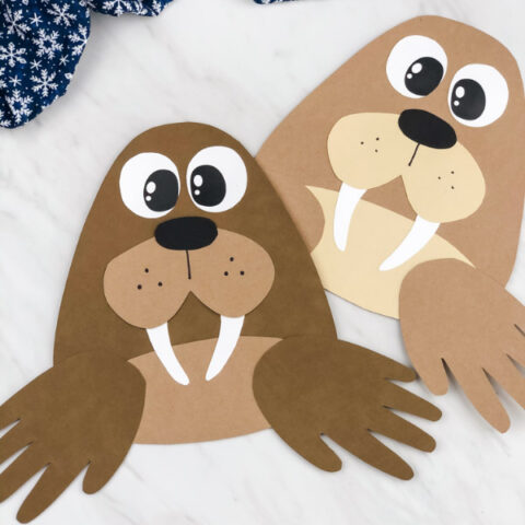Handprint Walrus Craft For Kids