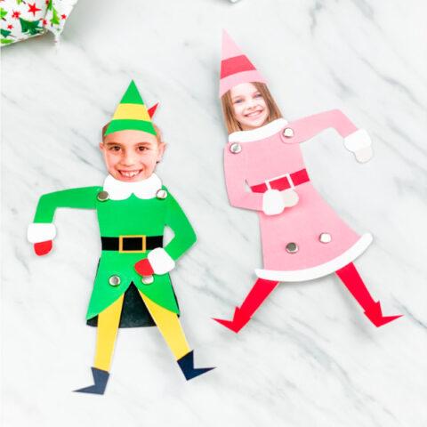 Jovie The Elf Photo Craft For Kids