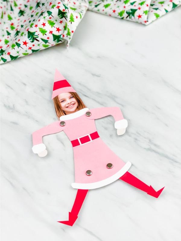 Girl photo elf craft