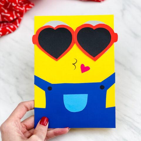 Minion Valentine Card Craft