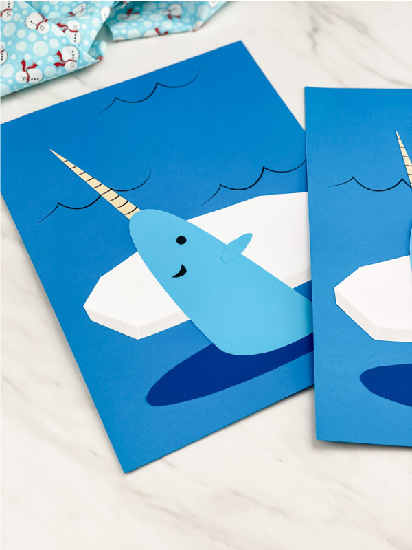 easy winter narwhal craft