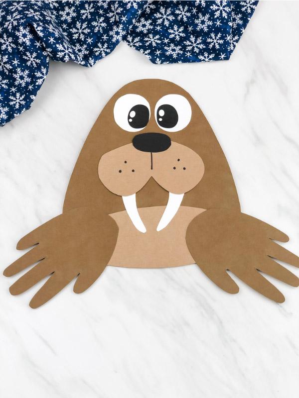 Light brown handprint walrus