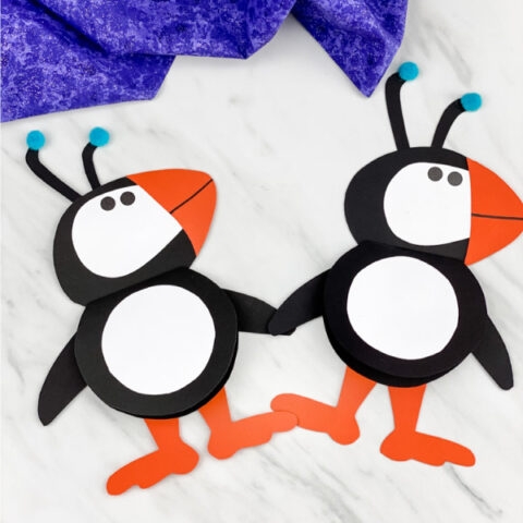 puffin craft for kids
