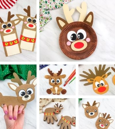 reindeer kids crafts image collage