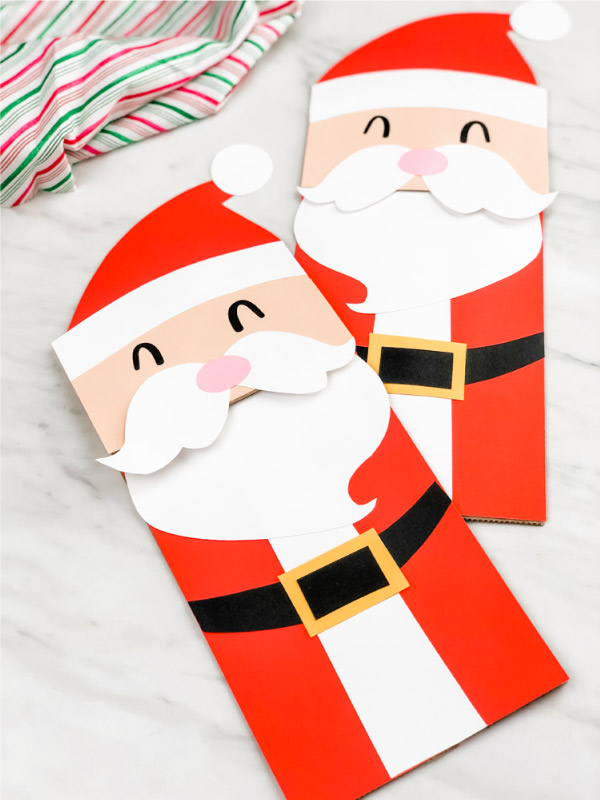 Santa Claus puppet craft