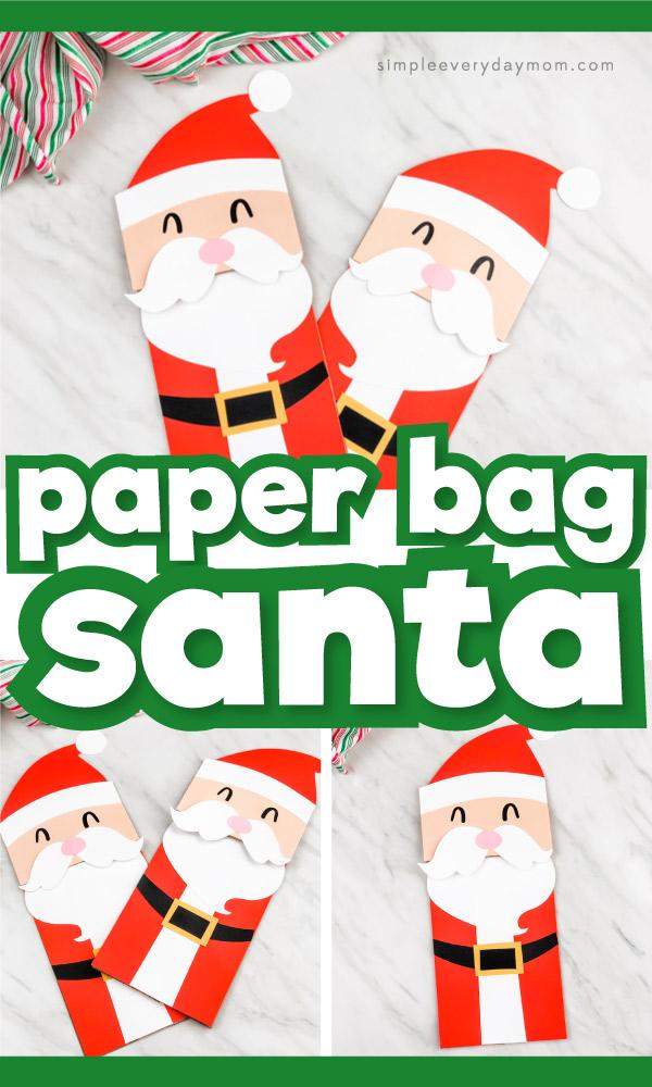 brown paper bag santa claus