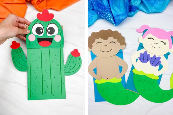 summer paper bag crafts for kids image collage