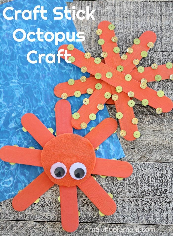 Craft Stick Octopus Craft