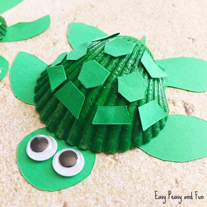 Seashell Turtle Craft – Seashell Craft Ideas