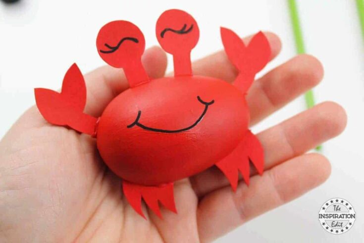 DIY Ocean Craft For Kids Blue Whale Crab And Fish