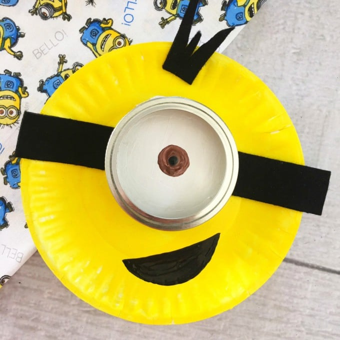 Minion Paper Plate Craft for Kids - Easy Rainy Day Activity