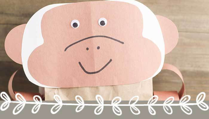 Cute Paper Bag Monkey Craft for Preschoolers