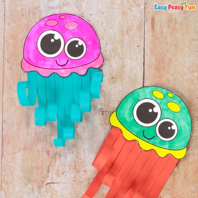 Scissor Skills Jellyfish Craft