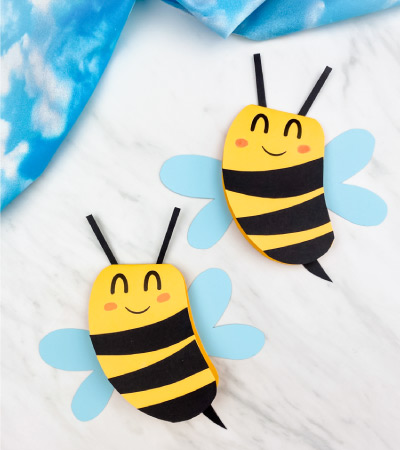 2 bee paper card crafts