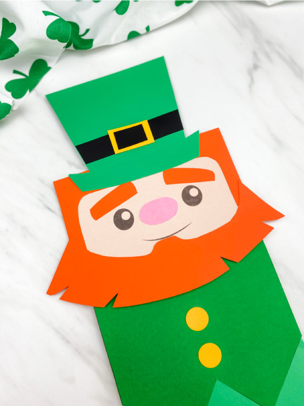 paper bag leprechaun craft