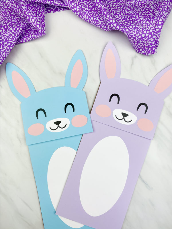 blue and purple puppet craft