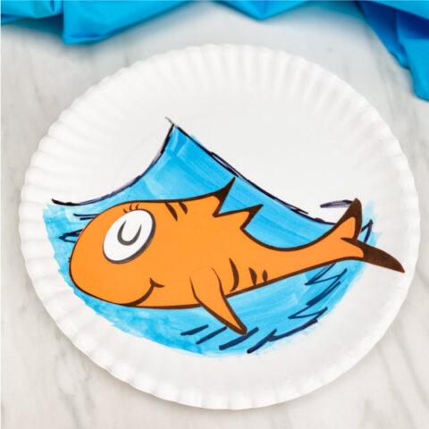 Dr. Seuss Fish Paper Plate Craft