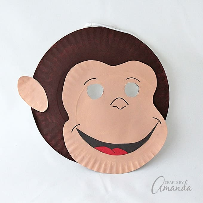 Curious George Paper Plate Mask