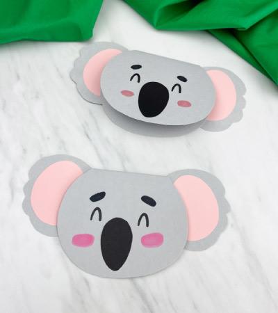 2 koala card crafts