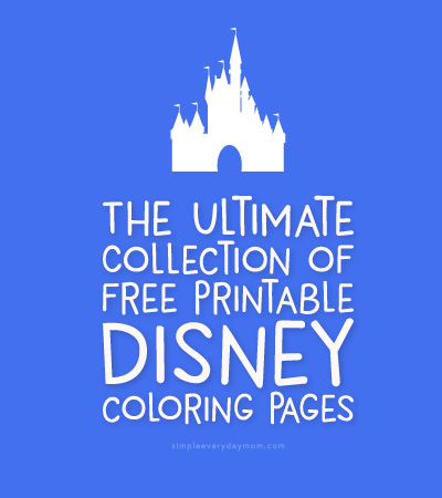 Easy Disney Coloring Pages
