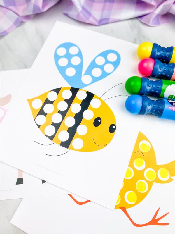 Bee dot marker printable