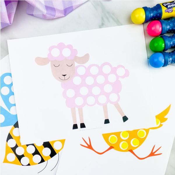 Sheep dot marker printable