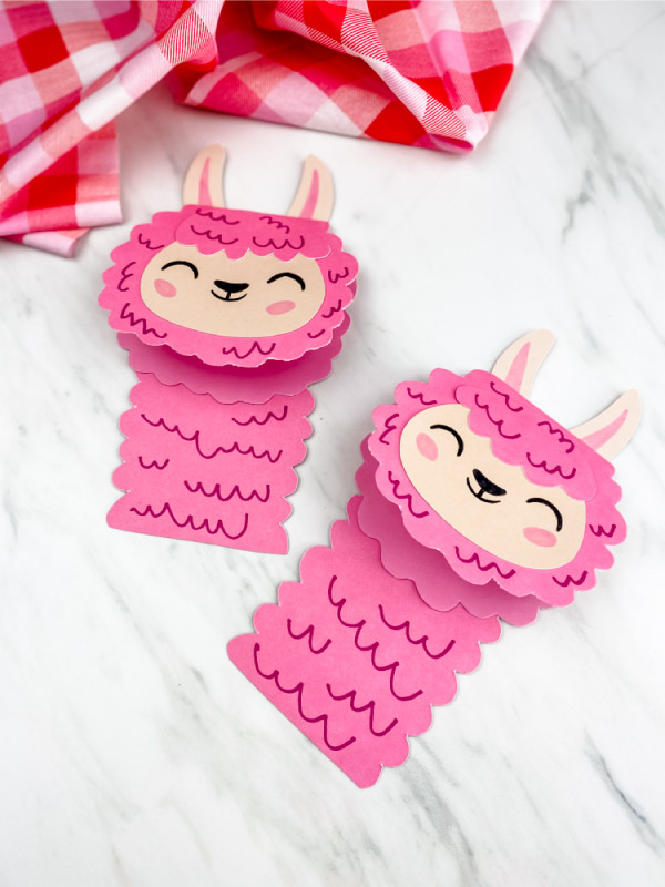 cute llama craft for valentine's day