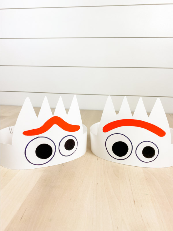 two paper Forky headbands