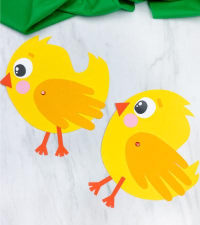 2 handprint chick crafts
