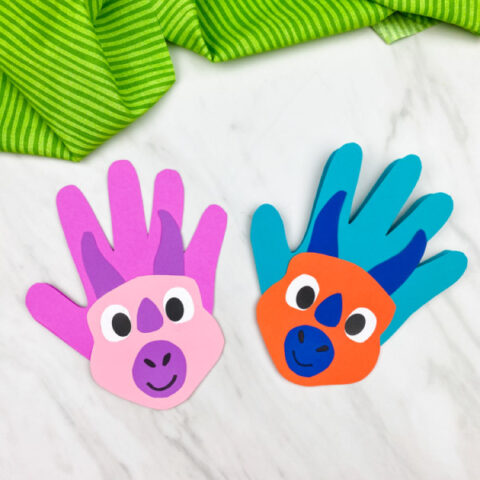 Dinosaur Handprint Card Craft