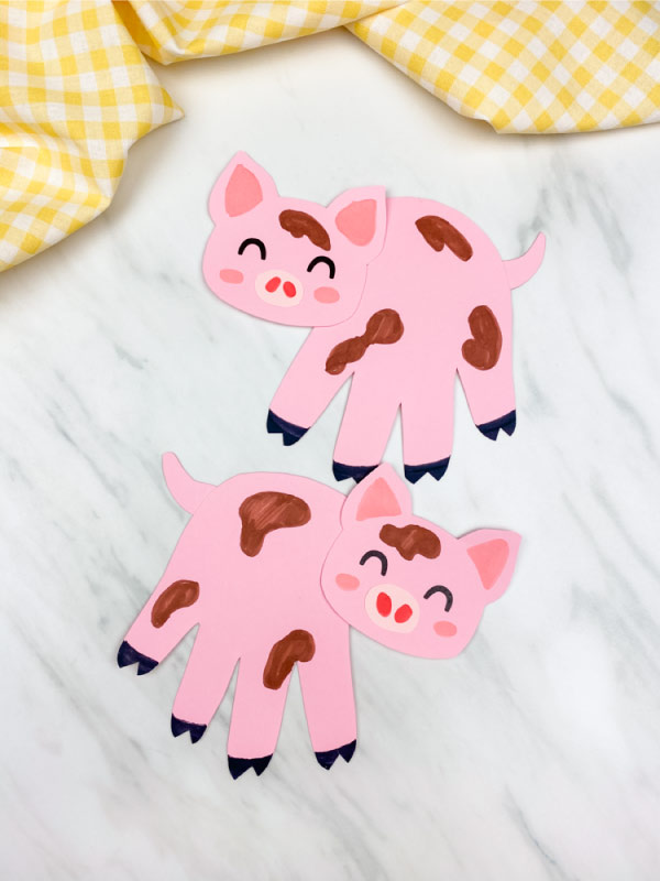 pink handprint pig craft