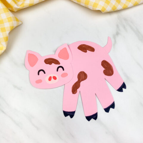 Pig Handprint Craft