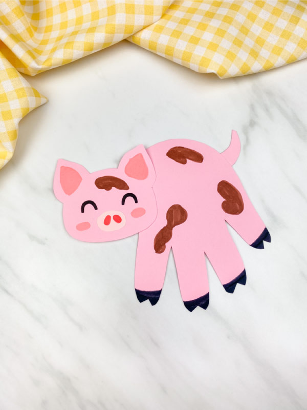 single pink pig craft