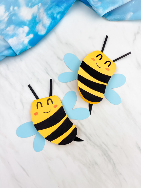 two bee cards
