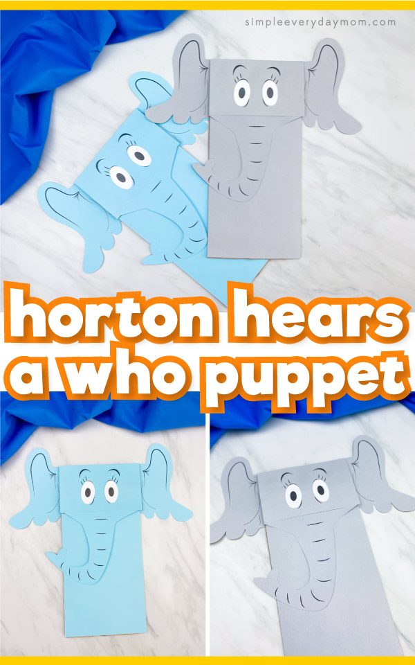 "Horton puppet craft images with the words, ""Horton hears a who puppet"""