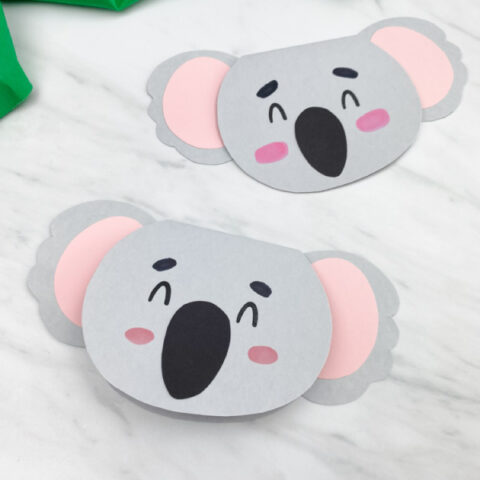 two gray koala cards