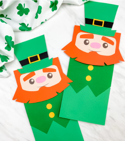 2 paper bag leprechaun crafts