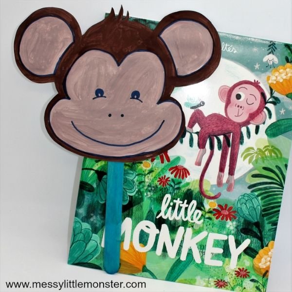 Monkey Mask Craft - Booktrusts Time to Read Campaign
