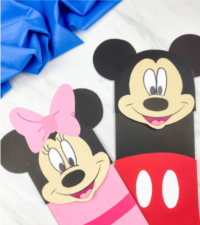 minnie and mickey mouse paper bag crafts