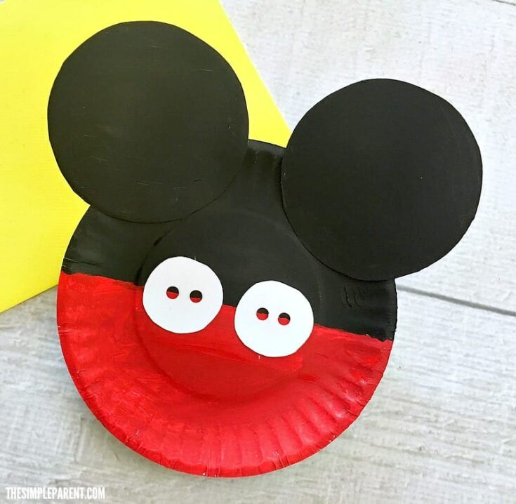 Mickey Mouse Paper Plate Craft is Great for Your Favorite Disney Fan!