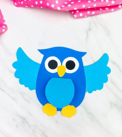 blue owl card craft