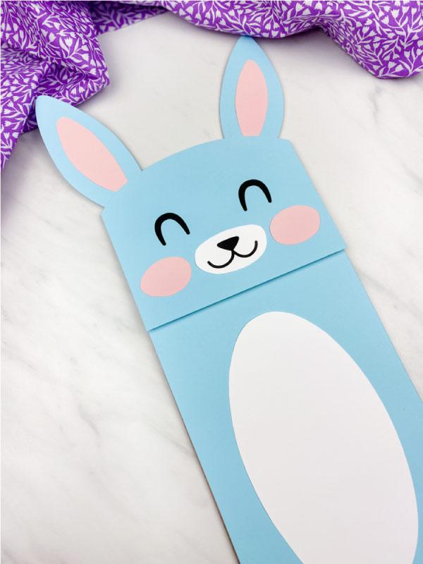 blue paper bag bunny