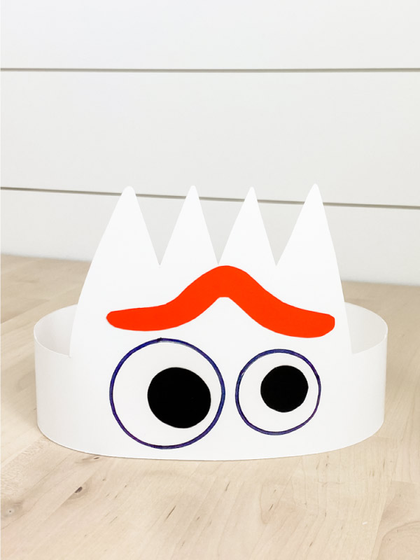 paper Forky headband with worried look
