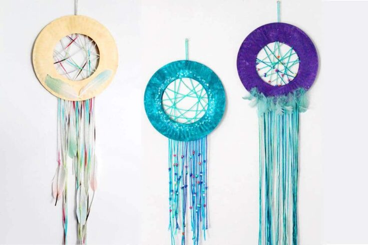 Paper Plate Dream Catcher Craft For Kids